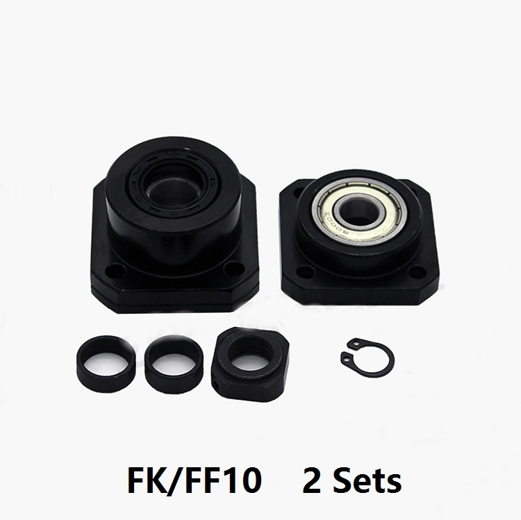 2pcs <font><b>FK10</b></font> Fixed Side and 2pcs FF10 Floated Side for ball screw end support cnc part 2 sets FK/FF10 image