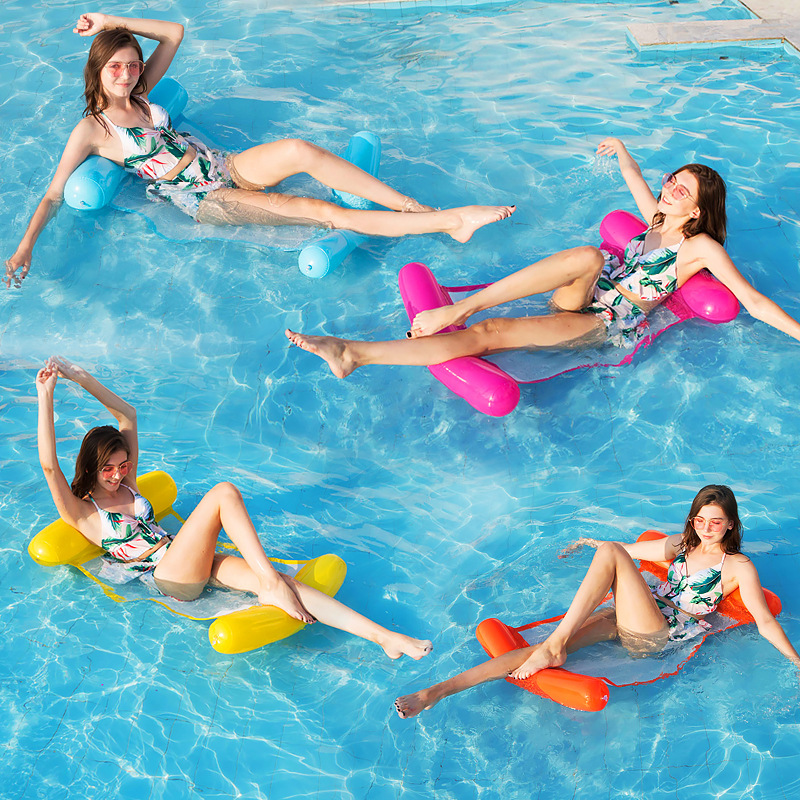 2019 New Fashion Swimming Pool Inflatable Floating Water Hammock Lounge Chair Water Summer Toy Floating Floats Bed Chaise Longue