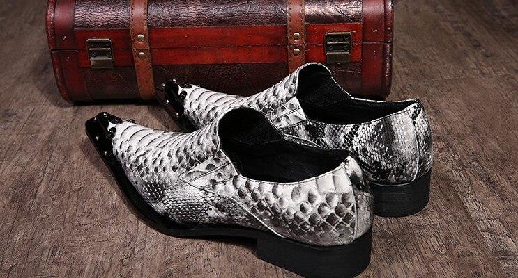 Padrão Show as De Nova Casamento Flats Formal Sapatos Cobra Negócio 46 2017 Homens Tamanho Qualidade Do Luxo Show Se Chegada Pele Festa As Vestem Alta 4BrwBgnq70