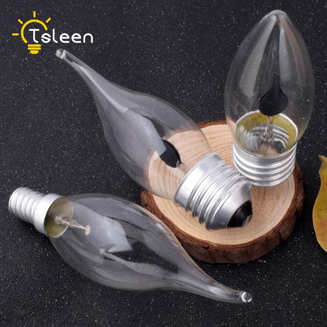 E14 E27 Retro LED Edison Light Bulb LED Flame Effect Fire Light Flickering Flame Lamp Simulated Party Christmas Decor AC220-240V
