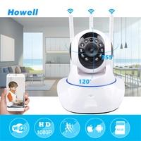 Howell Mini CCTV WiFi Cámara IP 1080 P Cámara de Seguridad Inicio Wi-Fi P2P Wireless Baby Monitor de Dos Vías Noche Audio Vision 3 Antenas