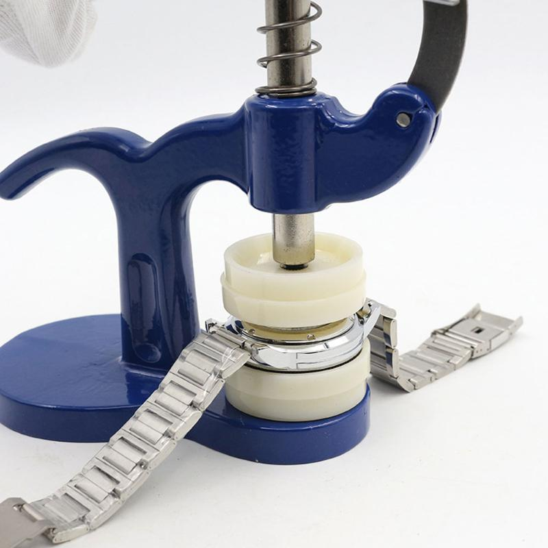 Uhr Zurück Näher Uhrmacher-tool uhr repair tool kit Drücken Sie Set Kunststoff Fall Kristall Glas Kombination Hand-tools dropshipping