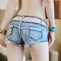2016 Sexy Nightclub High Cut Booty Jeans Hotpants Denim Mini Shorts Disco/Pole Dance Skinny Shorts In Europe And America UB882