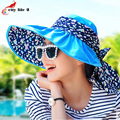 Sun Hat Print Polka Spring/Summer Anti-Uv Cap Folded Beach Hats For Women Casual Sombreros Mujer Verano
