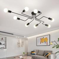 Vintage Iron Pendant Light Iron Spider Industrial Lamp Loft Led Suspension Luminaria Living Room Bedroom Dining Room Cafe Bar
