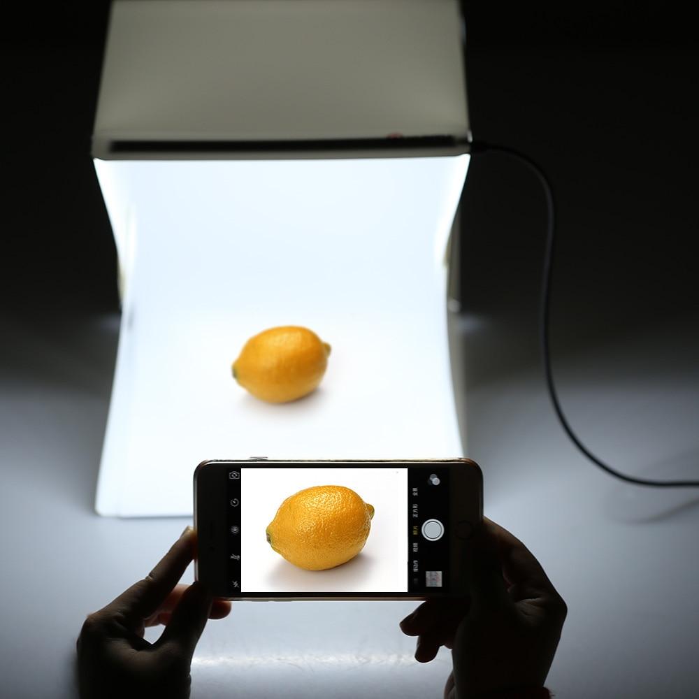 Draagbare Vouwen Fotografie Diffuse Lichttafel Led Mini Studio Tafel Schieten Softbox Achtergrond Voor Dslr Camera Iphone Android Verschillende Stijlen