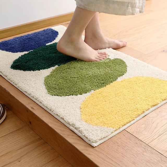 lemon kitchen rug bundles anti slip printed microfiber water absorbent mats bathroom carpet long front door mat outdoor entrance doormat