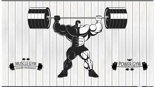 Sports Wallpapers Gym: 3d Wallpaper 3d Murals Wallpaper For Walls 3 D Gym Mural
