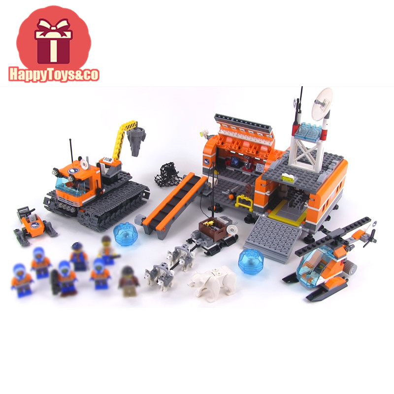 BELA City series 60036 783Pcs Arctic Base Camp toys For Children Gift 10442 Building Blocks Set Compatible Education Granules