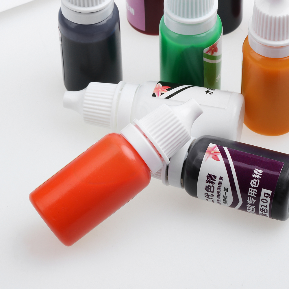 Arts,crafts & Sewing Creative 1bottle 10g Liquid Color Uv Resin Coloring Dye Dyeing Pigment Slime Crystal Mud Dyeing Water Oil Dual Use Pigment Diy Craft Home & Garden