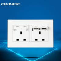Universal Wall Socket Dual 2 USB Plug Switch Power Supply Plate Electric Socket Outlet Adapter Plug 13 A A8-070