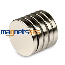 OMO Magnetics 5pcs 25mm x 4mm N50 Grade Small Disc Round Cylinder Rare Earth Neodymium Magnets