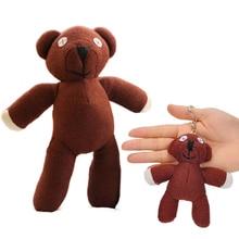 цена на 1pc 10/23cm Funny Mr Bean Teddy Bear Plush Toy Stuffed Soft Animal Brown Figure Doll Cute Children Christmas Birthday Gift Toys
