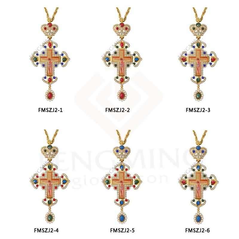 гръден кръст православен Исус - Декор за дома - Снимка 4