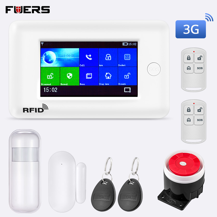 FUERS PG106 2G 3G GPRS WiFi Wireless GSM Smart Home Security Alarm System Intelligent RFID Anti Theft System APP Remote Control