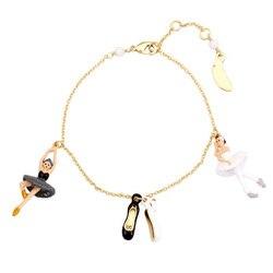 Swan Lake series Ballet Girl Dance shoes bracelets for women enamel glaze lovely girl lady party jewelry