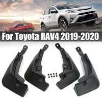 4PCS/Set Car Front&Rear Mudflaps Splash Guards MudGuards Mud Flap Plastic Black Auto Accessories For Toyota for RAV4 2019 2020