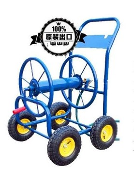 Mobile heavy duty reel cart for 80-160m garden water hose Blue color (Hose Excluded)  - buy with discount