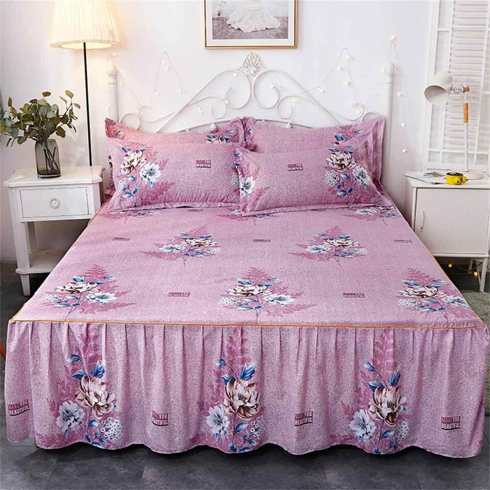 Bed Skirt Queen Size Single-Layer Skin-Friendly Cotton Bedspread Bed Set 1 Bedspread 2 Pillowcases1.5*2 M Bed Skirt