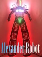LED Costume logo design /LED Clothing/Light Costume suits/ LED Robot suits/ ALEXANDER robot