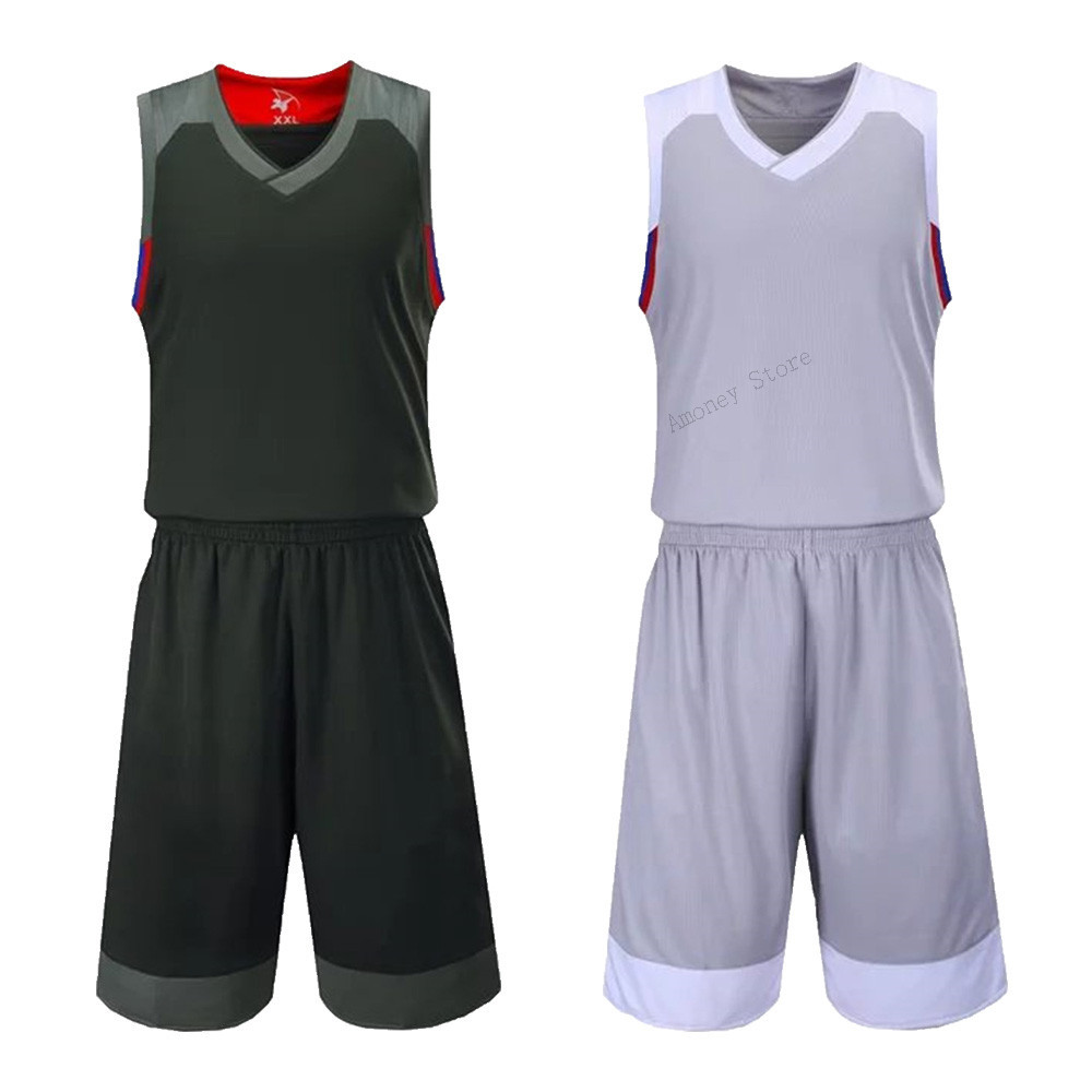 87787ebc6cc Adsmoney Basketball Jersey Set suit Sports clothing kits stars team game  Uniforms double pocket could customize