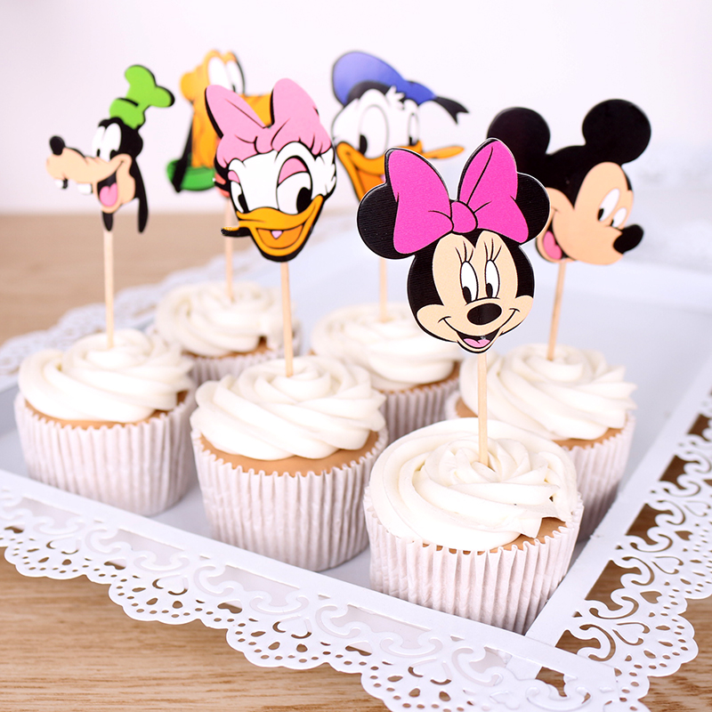 Miraculous 12Pcs Mickey Minnie Daisy Duck Duck Theme Party Supplies Cupcake Personalised Birthday Cards Vishlily Jamesorg