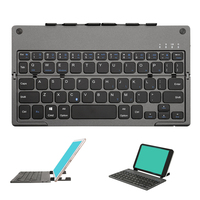 B048 Portable Bluetooth Keyboard Ultra Thin Home Rechargeable Travel With Tablet Stand Foldable ABS Universal Wireless Office