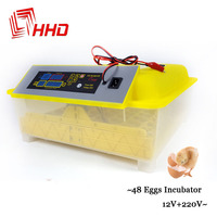 12V 220V Full automatic 48 Chicken egg incubator Poultry equipment Hatchery Machines Automatic Egg Turning Hatching Incubator