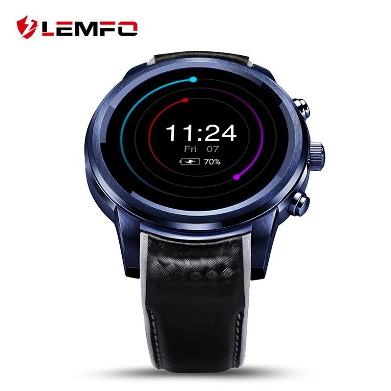 LEMFO LEM5 Pro Smart Montres Bluetooth SIM WIFI GPS Smartwatch Reloj Inteligente Android 5.1 OLED
