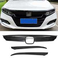 Carbon Fiber Lines Front Grille Cover Hood Lip Moulding Trims for Honda for Accord 2018 Car Stickers Styling ABS