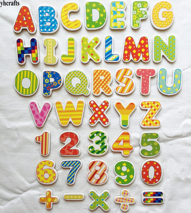41PCS/LOT.Letters.numbers.math Soft Magnet,white Blackboard Magnet.Kindergarten Supplies.Teach Your Own.Math Toys.English Learn