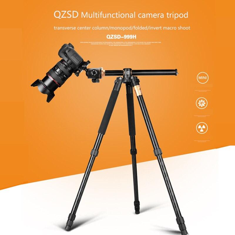 Q999H Professionnel Caméra Trépied 61 pouce Portable Multifonction En Aluminium Trépied pour Canon Nikon Sony DSLR SLR