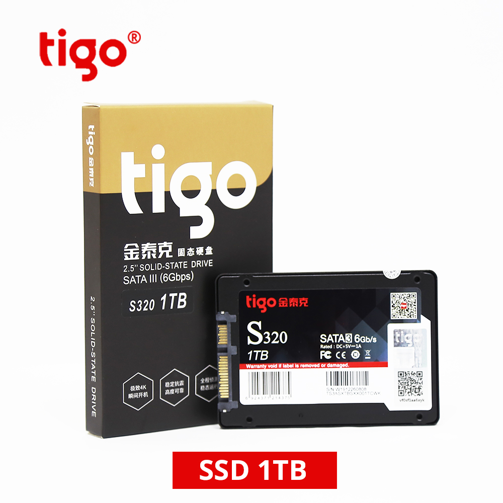 Image 2 - Tigo ssd 1tb hdd 2.5 polegada sata 1024 gb grande capacidade  interna unidade de estado sólido 6 gb/s para desktop computador portátil  s320 sataiiiUnidades de estado sólido internas