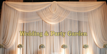 10ft*20ft Luxury White Wedding Backdrop with Beatiful Swag Wedding drape and curtain wedding decoration