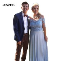 Half Sleeve Groom Mother Dresses for Women Sweetheart A Line Grey Mother of the Bride Dresses robe de mariee SMD51