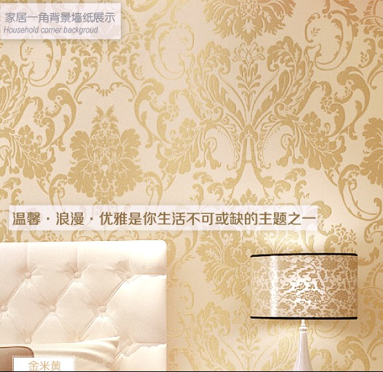 все цены на Europe type style wallpaper non-woven wallpaper The sitting room put with TV background European elegance style wall paper онлайн