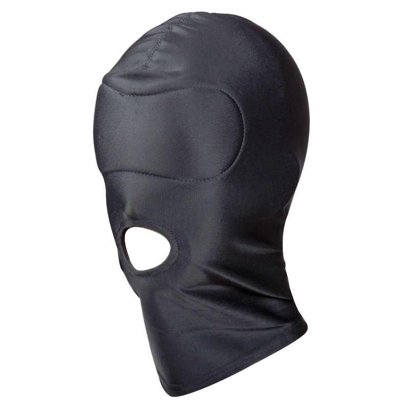 Belsiang БДСМ маска Фетиш Секс повязка капюшон сексуальные игрушки открытый рот вечерние Вечеринка Косплей раб маска наказание головные уборы взрослые игры