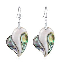 New Arrival Abalone Earrings Women Jewelry Water Drop Pendant Shell Natural Multi Color Gifts Heart Charming Vintage Decoration