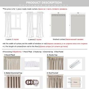 Image 5 - נהרו 100% האפלת חלון וילונות תרמית מוצק וילון לחדר שינה סלון אש מעכב בד וילונות