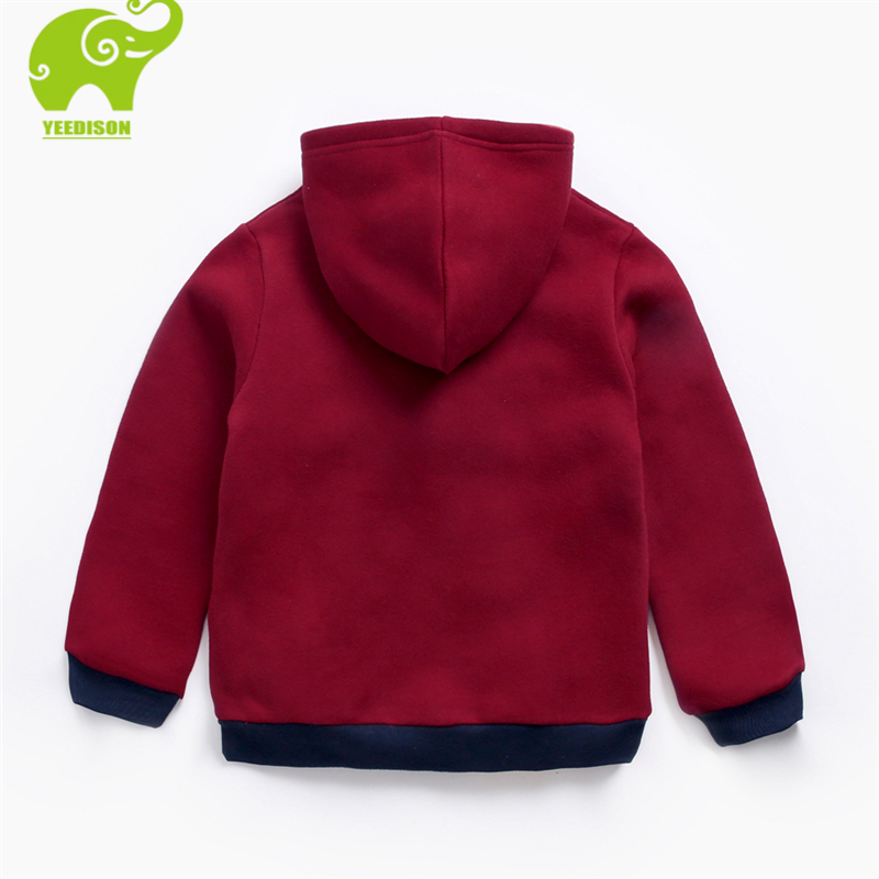 Yeedison Warm Hip Hop Children Sweatshirt Boy Loose Hooded Cotton Big Girl Sweatshirts for 3-12Y Child Thick Winter Kids Clothes