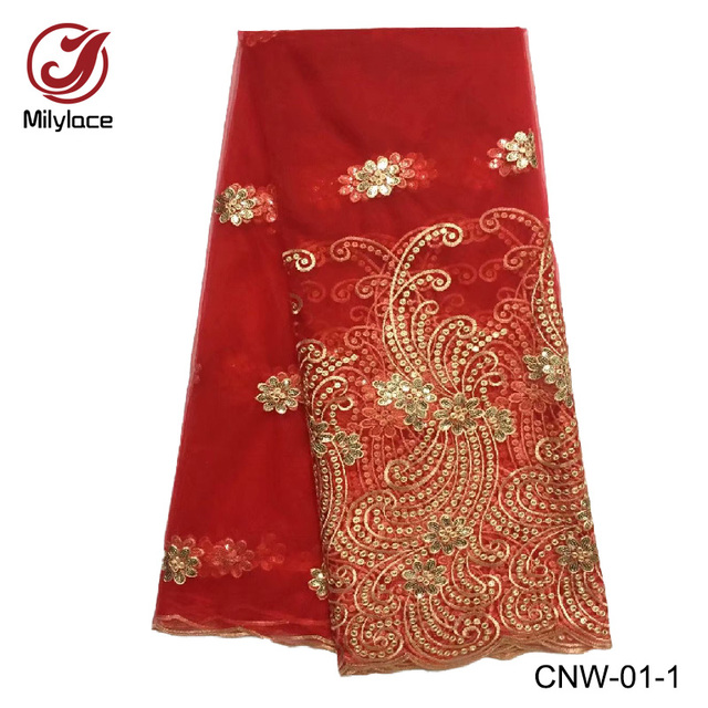 Popular Design French Lace Fabric With Classical Embroidery Patterns
