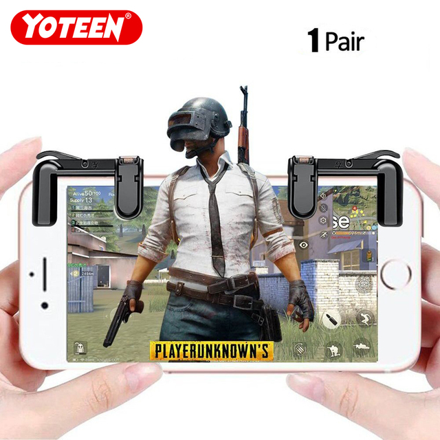 Yoteen Mobile Phone Shooting Game Fire Button Aim Key Buttons L1 R1 Cell Phone Game Shooter Controller for Android IOS Joystick