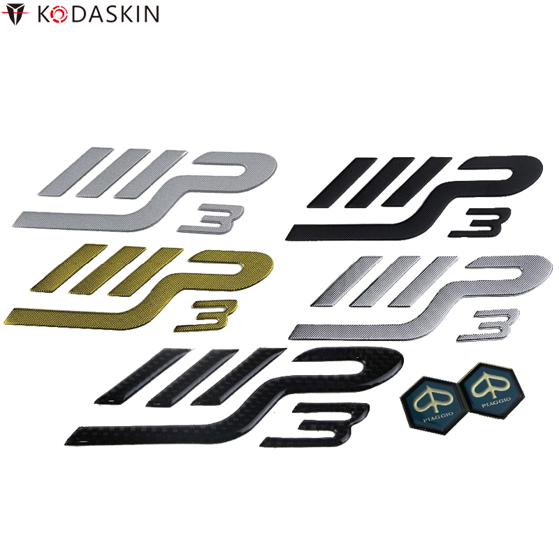 KODASKIN Emblems 3D Logos Motorcycle Stickers for PIAGGIO MP3 Moto Scooter