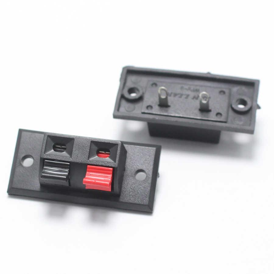 2 sztuk WP zewnętrzne gniazdo bananowe 2Pin głośnik wzmacniacz uchwyt do kabla gniazdo Audio WP2-1 2 LED na słupku przełącznik sprężynowy