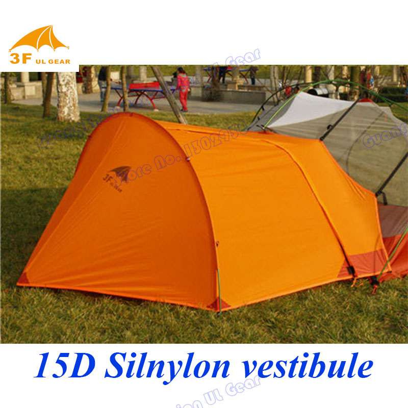 15D nylon ultralight vestibule 3Ful Gear aluminium pole professional outdoor camping tent