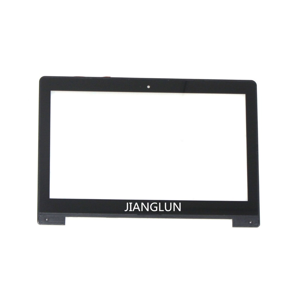 JIANGLUN For Asus VivoBook S300 S300C S300CA Laptop Touch Screen Digitizer with Bezel Frame 13 3 inch touch screen digitizer glass lcd display assembly replacement for asus vivobook s300 s300c s300ca s301 s301c s301ca