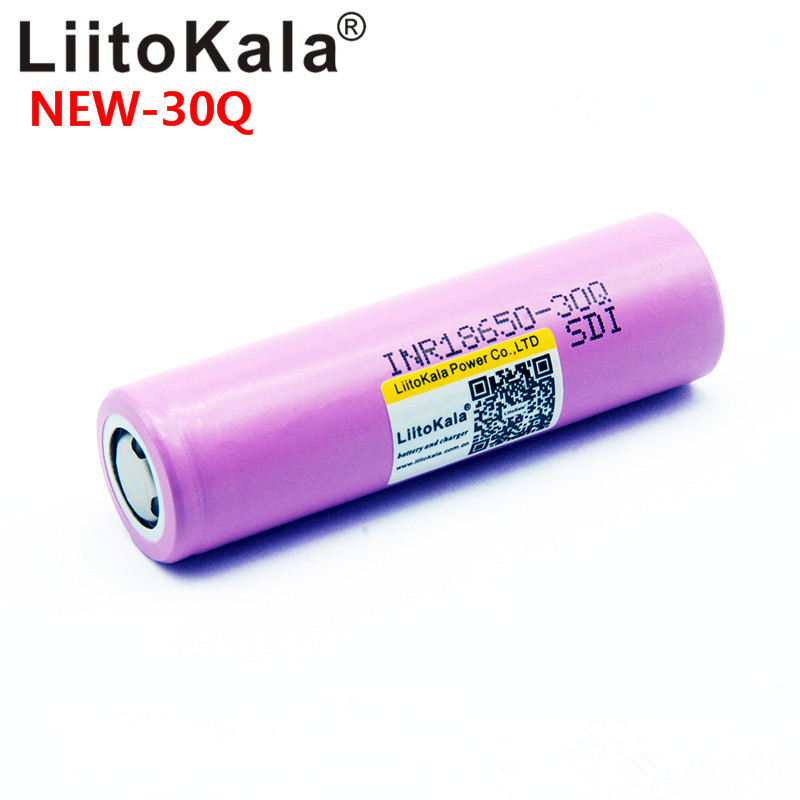 100% LiitoKala For 30Q Brand For Samsung 18650 3000mAh Lithium Battery Inr18650 Powered Rechargeable Battery