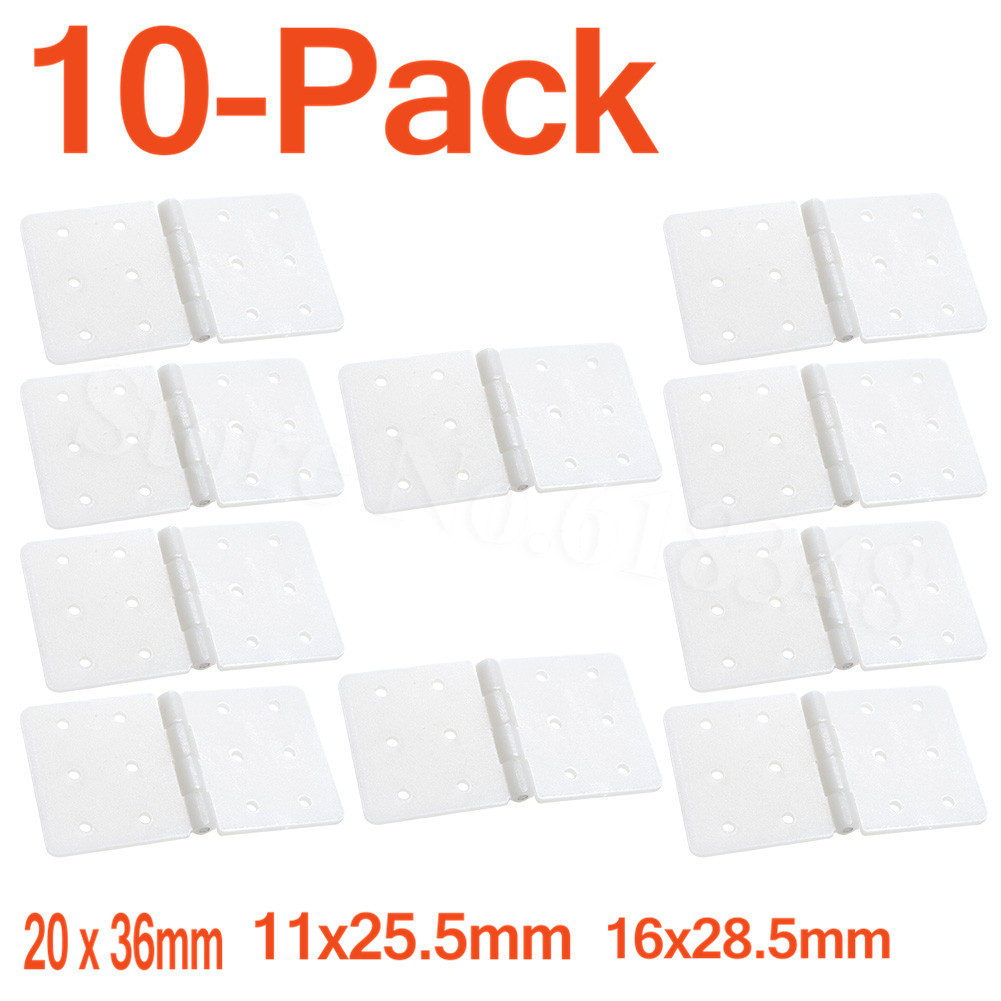 10 Quality Plastic Pinned Hinges for RC Aircraft Hobby Model Plane Accessories