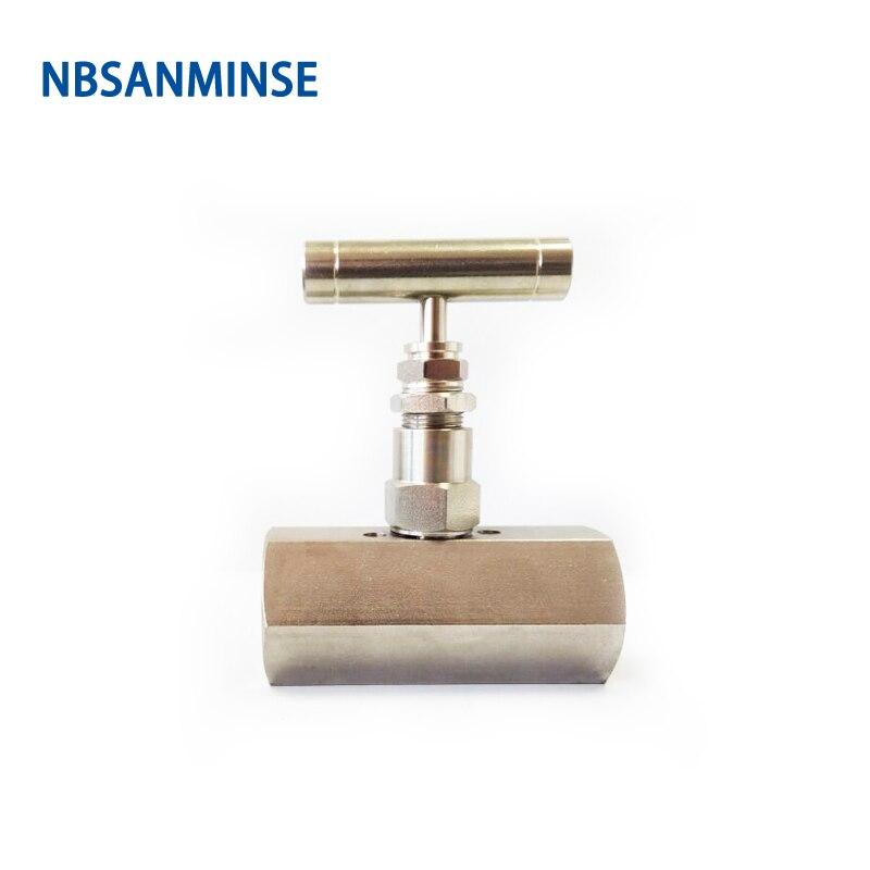 SPNV 1/2 3/4 (F x F) (M x F) Type femelle vanne à aiguille en acier inoxydable de haute qualité 6000 Psi pression NPT en ligne Type Sanmin