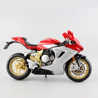 1 12 Mini MV Agusta F3 Serie Oro Metal Die Cast Models Motorcycle Race Car Golden